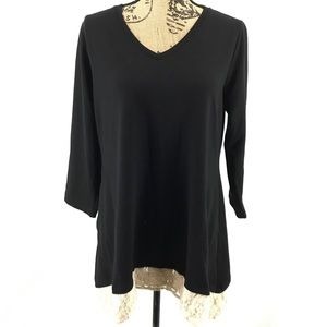 LOGO Lounge by Lori Goldstein Black Pocket Tunic